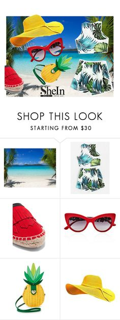"""SHEin"" by fashionshelter ❤ liked on Polyvore featuring Iris & Ink, Dolce&Gabbana and Betsey Johnson"