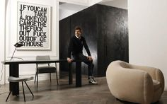 Joseph Dirand at home