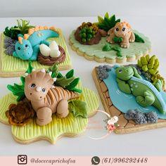 Dinosaur Birthday Cakes, Dinosaur Cake, Fondant Toppers, Fondant Cakes, Cupcake Toppers, Fondant Animals, Clay Animals, Magnum Paleta, Crea Fimo