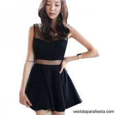 Vestidos de noche negros con mesh y vuelo 2014 - 05 | Vestidos Para Fiestas 2014…