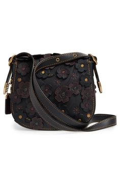 2e6b58c08d  COACH 1941  23  Flower Appliqué Leather Saddle Bag at Nordstrom. A  reimagined