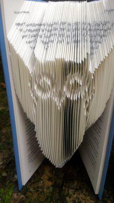 Folded Book Art Book folded into Owl by TheFoldedBookCompany
