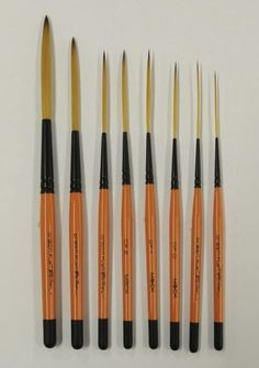 Drag& Fly Ted Turner Signature Series Pinstriping Brush Any Size OR Set of 8 Painting Fur, Painting Tools, Artist Painting, Sign Painting, Painted Letters, Painted Signs, Hand Painted, Colores Prismacolor Premier, Pinstripe Art