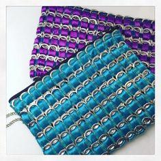 rock recycled tab clutch purse nightmair creations