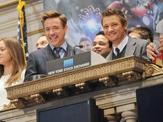 Star Tracks: Tuesday, April 28, 2015 | SOUND THE ALARM | Robert Downey Jr. and costar Jeremy Renner ring the New York Stock Exchange's opening bell to promote their film Avengers: Age of Ultron in N.Y.C. on Monday.