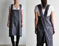 Easy to Make, Back Cross Strap Apron – The Daily Sew