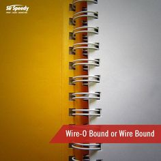 Types of Book Binding-Wire-O Bound or Wire Bound Wire Binding, Book Binding, Types Of Books, Bookbinding