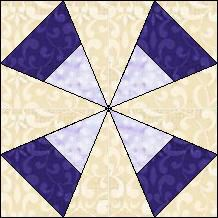 Block of the Day for June 15, 2014 - Striped Kaleidoscope