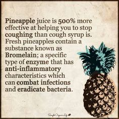Pineapple to help you to stop coughing
