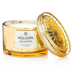 VOLUSPA Icognito - DOUBLE WICK GLASS EMBOSSED CANDLE