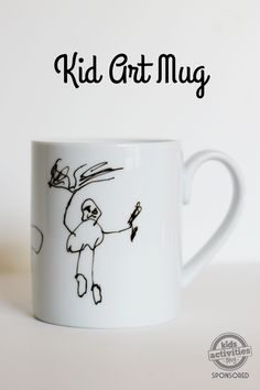 This kid art mug is the perfect DIY gift for a little one to make for someone they love.