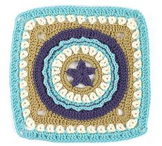 Circle Star pattern by Julie Yeager (and a link to free motif e-book)