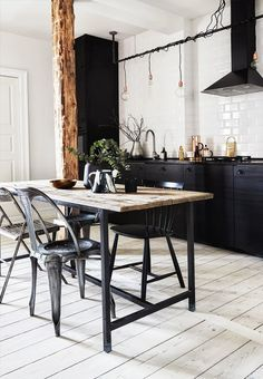 Black kitchen 2 / Blog Atelier rue verte /                                                                                                                                                                                 More