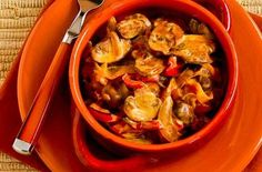 Vegetarian Mushroom Stew with Red Bell Pepper, Onion, and Paprika — Punchfork