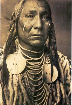 A Crow Indian Wearing War Paint