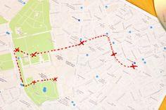 Streckenplanung zum Foto-Shooting für LISAvienna. Map, How To Make, Pictures, Location Map, Maps