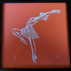 ballerina, papierknipkunst