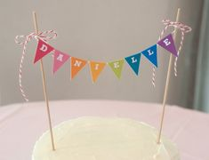 Rainbow Cake Banner / Garland / Topper DIY