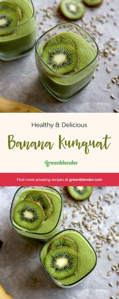 Banana Kumquat on Green Blender
