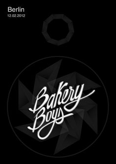 Type lettering by @Marius Nedelcu for BakeryBoys concert poster.