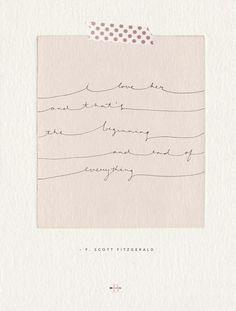 F. Scott Fitzgerald on love