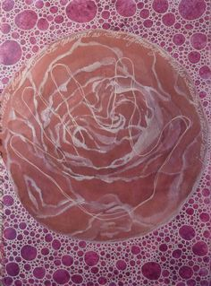 Page with bubble motif in acrylic and gel pen from The Book of Legend-Ravens At My Window/Roses On My Wall 2012  Deborah K. Tash.
