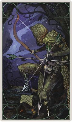 Dragon Age Inquisition character tarot cards - Hunter