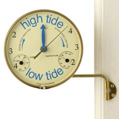 Weems and Plath Veranda Tide Clock- cool idea. Not digging the brass though, I wonder if I could find other styles?