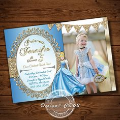 Hey, I found this really awesome Etsy listing at https://www.etsy.com/listing/226774189/cinderella-invitations-princess