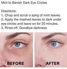 Natural remedy using Mint to banish Dark Eye Circles...