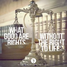 What good are rights without the right to life?