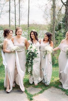 Spring Northern Michigan boho inspired wedding with floral, organic bridesmaid dresses and flower crowns. Bridesmaids And Groomsmen, Wedding Bridesmaids, Wedding Dresses, Bridal Gowns, Boho Wedding, Wedding Blog, Wedding Ideas, Bohemian Weddings, Wedding Things