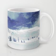Serenity Mug Available in 11 and 15 ounce sizes, our premium ceramic coffee mugs feature wrap-around art and large handles for easy gripping. #Serenity, #peace, #landscape, #mountains, #forest, #snow, #photo