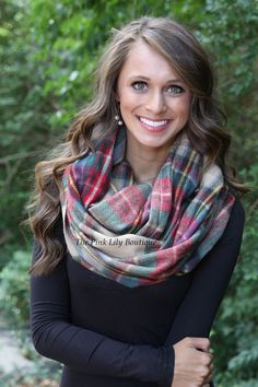 The Pink Lily Boutique - Chilly Nights Scarf Tan and Green, $22.00 (http://thepinklilyboutique.com/chilly-nights-scarf-tan-and-green/)