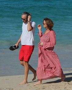 Seeing in the New Year right! Stella McCartney enjoyed a well-deserved break with her husband Alasdhair Willis on the Caribbean island of St Barths