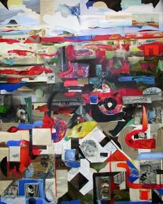 Ein Leben - (c) Elisabeth Rütsche Collage Kunst, Collagen, Painting, Life, Painting Art, Paintings, Draw