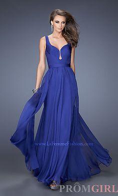 Floor Length Sleeveless La Femme Dress at PromGirl.com #fashion #dresses #style
