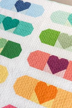 This quilt is the perfect way to show your love! When a friend or family member isn't feeling well, or simply needs to know you care, they can snuggle up with this quilt. The Band Aid Quilt Pattern includes 3 sizes, a mini quilt, x and x Quilting Tutorials, Quilting Projects, Quilting Designs, Quilting Tips, Beginner Quilting, Quilt Design, Sewing Projects, Farm Animal Quilt, Baby Quilts To Make
