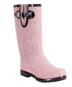 Look what I found on #zulily! Nomad Footwear Red Herringbone Puddles Rain Boot by Nomad Footwear #zulilyfinds