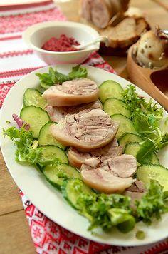 Украинская кухня. Завиванец из свиной рульки.