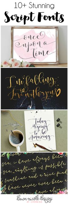 10 Stunning Script Fonts | dawnnicoledesigns.com
