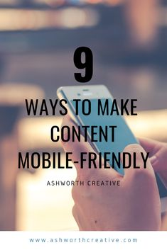 9 Ways To Make Content Mobile-Friendly - Ashworth Creative Google S, Keep In Mind, You Videos, 5 Seconds, Search Engine, Content Marketing, Breakup, Insight, Infographic