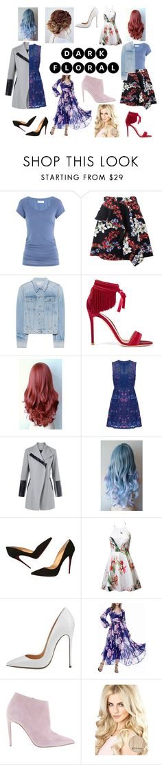 """4 way floral"" by stylajayde ❤ liked on Polyvore featuring Velvet, MSGM, rag & bone, Gianvito Rossi, Notte by Marchesa, Christian Louboutin and Ralph Lauren"