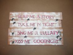 Hey, I found this really awesome Etsy listing at https://www.etsy.com/listing/237815134/pallet-sign-that-says-read-me-a-story