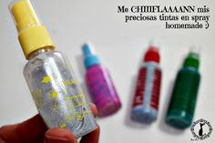 Fabrica tus propias tintas en spray con brillo: http://cinderellatmidnight.com/2014/04/25/quien-tiene-una-bigshot-tiene-una-maquina-de-hacer-sellos-en-potencia-sobre-sellos-y-tintas-caseras-y-mi-experiencia-con-la-pasta-dimensional-homemade/