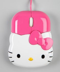 Pink Kitty Head USB Mouse