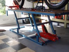 Need plans for motorcycle lift - CycleFish.com | Work ...