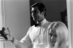 Geaorge Lazenby and Marie-France Boyer at James Bond audition