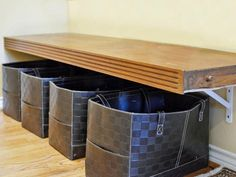 Shoe Baskets and bench