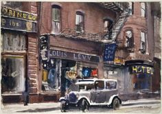 John Whorf, Winter, North End, Boston, 1936.